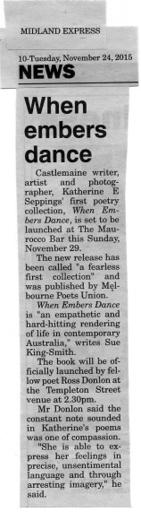 Seppings_Katherine_When Embers Dance launch_Midland Express_20151124 s