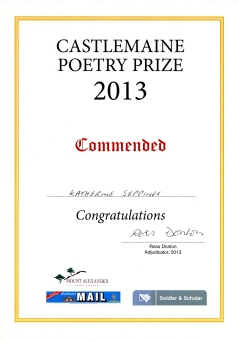 Castlemaine Poetry Prize_Commendation_2013